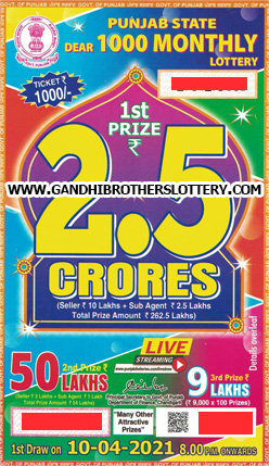 Online Punjab state lottery